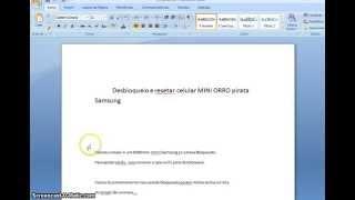 getlinkyoutube.com-Desbloqueio / Resetar celular pirata SAMSUNG ORRO