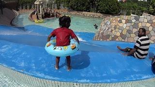 getlinkyoutube.com-Little Blue Water Slide at Wet World Water Park