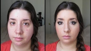 getlinkyoutube.com-Girl Chat / Get Ready with Me - Full Face / Acne Coverage