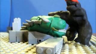 getlinkyoutube.com-Godzilla VS Muto animation Clay and LEGO