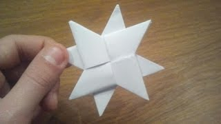 getlinkyoutube.com-How To Make a Paper Double Ninja Star - Origami