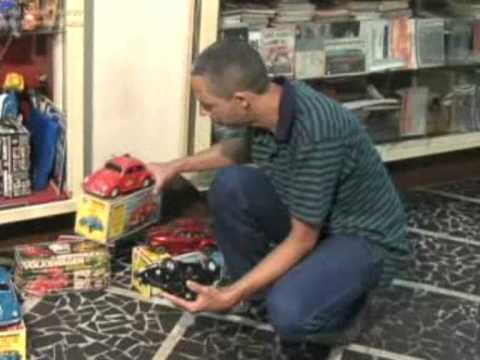 Zé Fusca e brinquedos antigos
