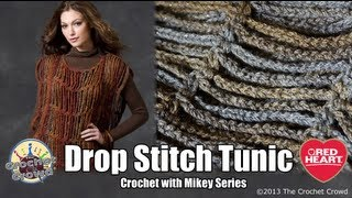 getlinkyoutube.com-Learn How to Crochet the Drop Stitch Tunic