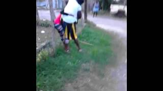 getlinkyoutube.com-Jamaican Fight  Lisa Vs Gaza Slim