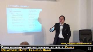 Naturopatia - 2/6 - Piante medicinali e controllo glicemico  - Dott. Claudio Biagi