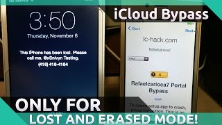 [SERVER STATUS IN DESC.] Bypass LOST AND ERASED on ANY IDEVICE! iCloud Bypass!