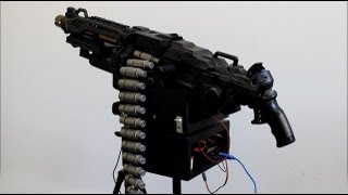 getlinkyoutube.com-Nerf Vulcan Sentry Gun