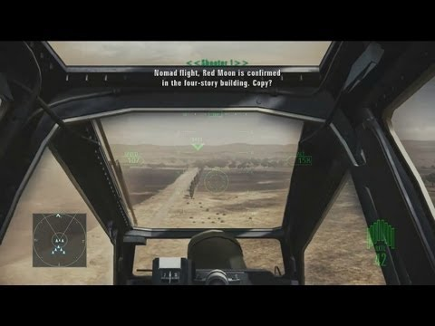 ACE COMBAT ASSAULT HORIZON - PS3 / X360 - Gameplay Fly-Through: Helicopter Assault - Mission 3