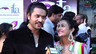 getlinkyoutube.com-Ashish Sharma with Wife Archana at ITA Awards