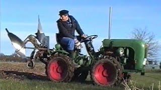 getlinkyoutube.com-1 - Holder A12 beim Pflügen   Allrad Traktor Knicklenker   Tractors Ploughing   Tractor Plowing