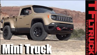getlinkyoutube.com-We drive the Jeep Comanche Diesel Mini Truck Concept Off-Road