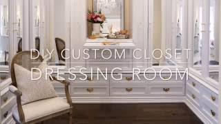 getlinkyoutube.com-DIY Custom Closet Dressing Room   Classy Glam Living