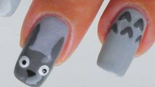 getlinkyoutube.com-Totoro nail art tutorial