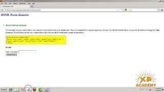 HTML Form reset button (web development course in Urdu Class 9) Frontpage