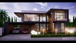 getlinkyoutube.com-Modern Style แบบบ้านสองชั้น ประเภทบ้านเดี่ยว 4ห้องนอน 4ห้องน้ำ แบบบ้านโมเดิร์น by Black-Beam
