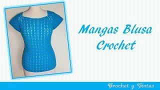getlinkyoutube.com-Mangas blusa agua marina a crochet