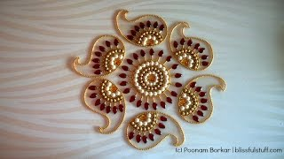 getlinkyoutube.com-How to Make rearrangable kundan Rangoli, DIY Kundan Rangoli