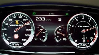 getlinkyoutube.com-Mercedes S 63 AMG 2014 W222 - acceleration 0-230 km/h, test driving moments