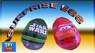 getlinkyoutube.com-Egg Surprise Cars Movie Lightning McQueen StarWars Movie--Huevo Sorpresa Rayo MacQueen