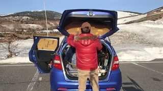 getlinkyoutube.com-Let's go 小型車フィットで車中泊
