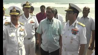 getlinkyoutube.com-International Fleet Review (IFR) 2016 || Preparations in Full Swing || Indian Defence Minister |
