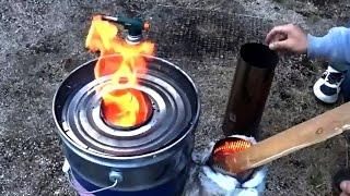 getlinkyoutube.com-ロケットストーブ Rocket stove 煙突改良? 改悪?
