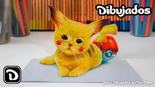 getlinkyoutube.com-Dibujando a Pikachu - Dibujo en 3D - Dibujados