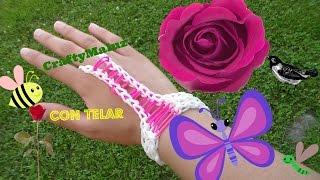 getlinkyoutube.com-Tutorial: Pulsera con anillo de gomitas accesorio para la mano// Rainbow loom Hand Accessory