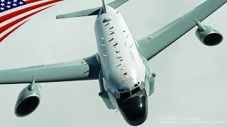getlinkyoutube.com-RC-135V/Wリベットジョイント・F-15E・A-10のイラク上空・空中給油 - RC-135V/W Rivet Joint, F-15Es & A-10s Refueling Over Iraq