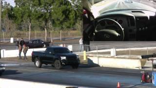 getlinkyoutube.com-500hp Toyota Tundra Truck Smokes Muscle Car 1/4 Mile Drag Race