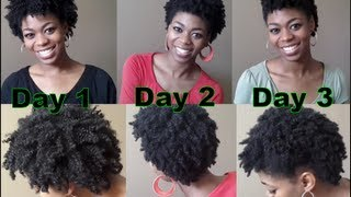 getlinkyoutube.com-4C Natural Hair - Maintaining My Hair Without Re-Twisting Nightly- (Wet Twistout Night Routine)