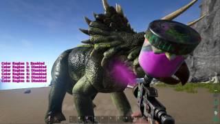 getlinkyoutube.com-Ark Survival Evolved Automatic Spray Paint Gun Hands on Review