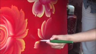 getlinkyoutube.com-One Stroke Painting. Tagil roses. Tatyana Kudryavtseva
