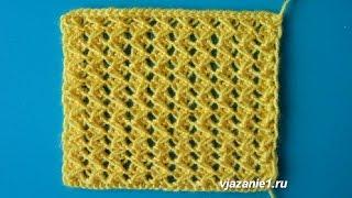 getlinkyoutube.com-Ажурный узор без накидов. Вязание спицами