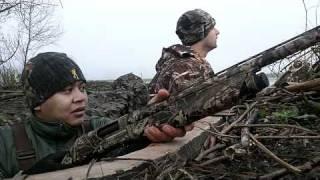 2 noobs in a duck blind