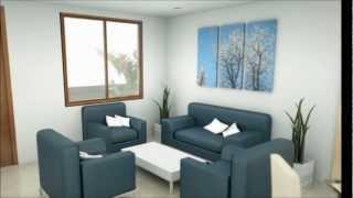 getlinkyoutube.com-Casa moderna 6.00 m x 9.00 m 2 pisos interior