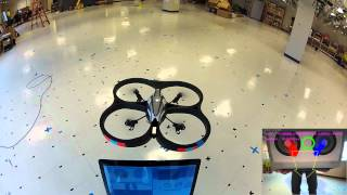 AR Drone Target Tracking with OpenCV - Optical Flow