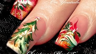 getlinkyoutube.com-No Water Needed | 3 Different Christmas Drag Marble Nail Art Designs!