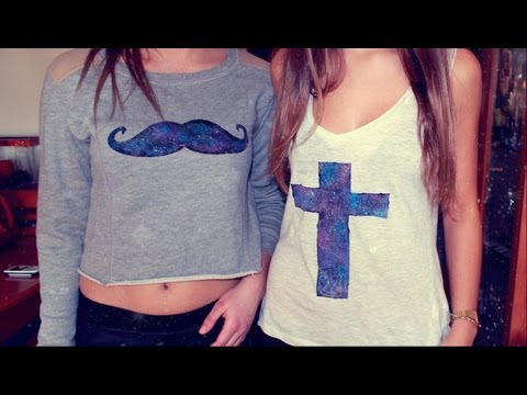 DIY camisetas (galaxy T-shirts) ♡!