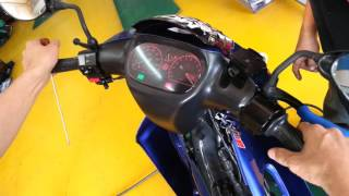 getlinkyoutube.com-Yamaha 125zr carb rxz rpm 12