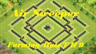 getlinkyoutube.com-Clash of Clans - BEST Town hall 9 TH9 Farming BASE   Air Sweeper Anti Giant -  Balloon - Hog rider