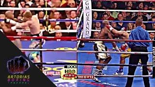 getlinkyoutube.com-Manny Pacquiao Testing Mayweather's Chin