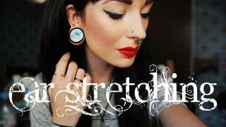 getlinkyoutube.com-Ear Stretching - How to do it the right way.