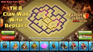 getlinkyoutube.com-COC l One Of The Best TH8 Clan War Base ll Anti 3 Stars (Dragons Lvl 3-Hogs Lvl 4) With Replays