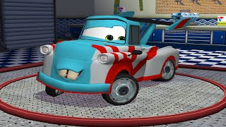 getlinkyoutube.com-Cars Toon Mater's Tall Tales - Tokyo Mater Game