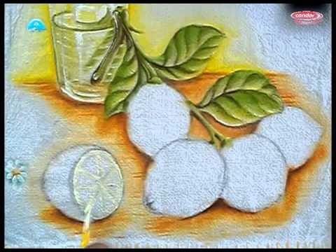 Como Pintar Limão - Na Pintura em Tecido