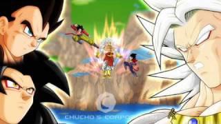 getlinkyoutube.com-Dragon Ball Z - Broly Saiyan 5 vs Gokuh and Vegeta