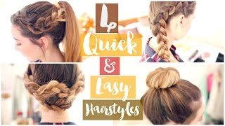 getlinkyoutube.com-How To: 4 Quick & Easy Hairstyles | Zoella ad