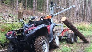 getlinkyoutube.com-Logging with Yamaha Grizzly 700