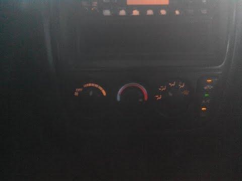 Honda CR V замена ламп подсветки климата